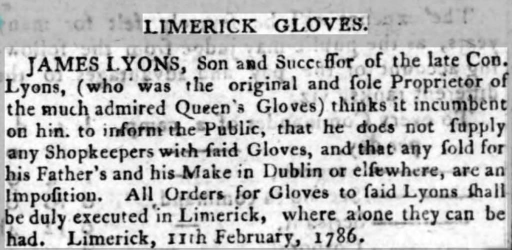 Limerick gloves