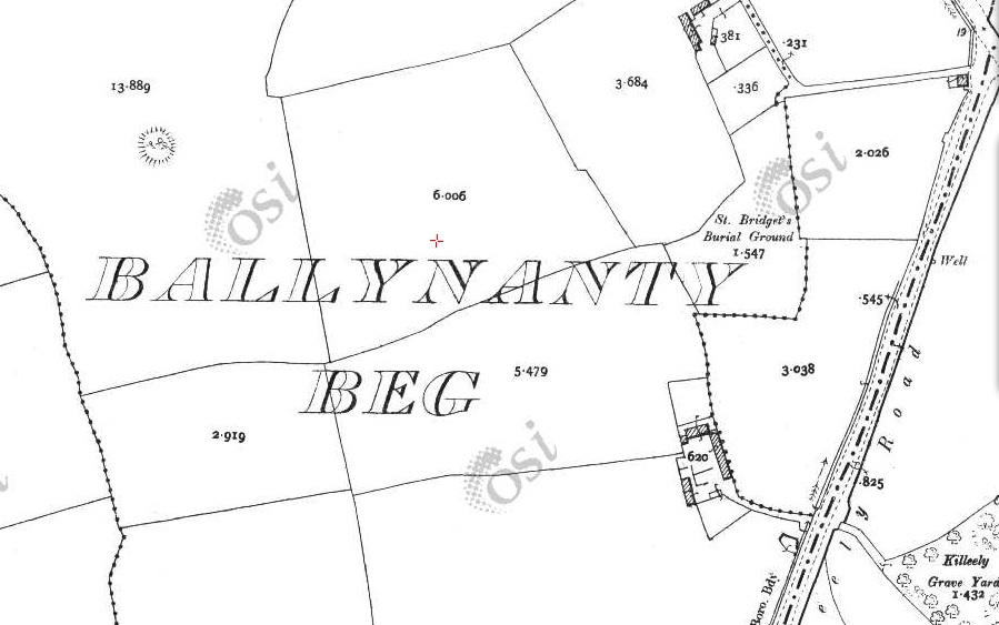 osi map from 1900 showing the ringed fort