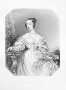 A posthumous portrait of Flora Hastings