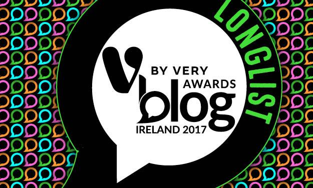 Longlisted in the V by Very Blog Awards Ireland 2017