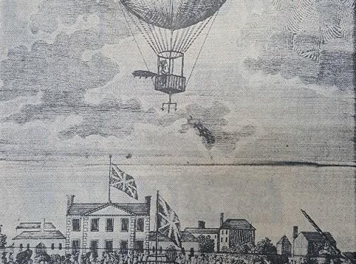 Richard Crosbie and his 1786 Hot Air Balloon Flight
