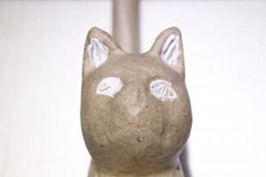 Katze mit Decoupagekleber