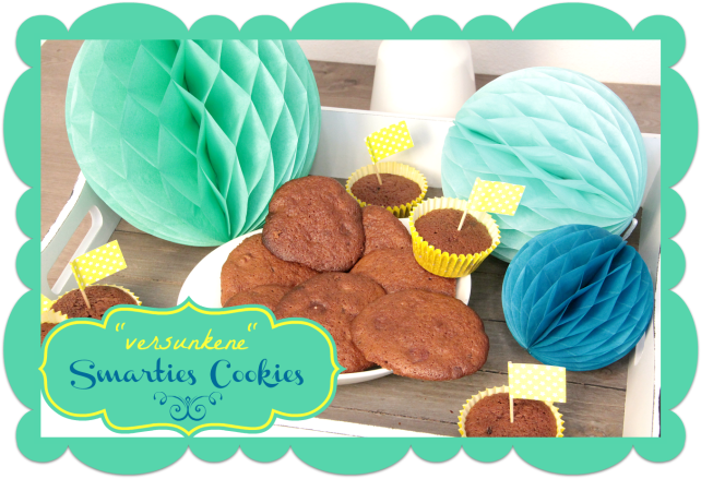"""""""versunkene"""" Smartie Cookies"""