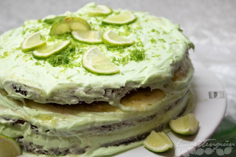 Naked Lime Curd Cake