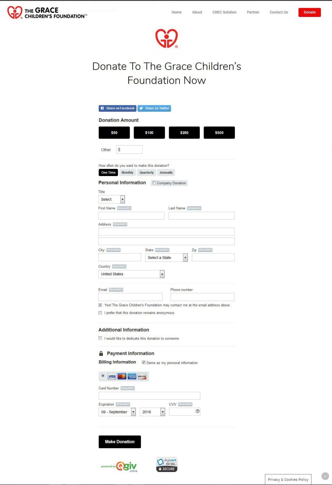 Nonprofit donation website design by LIMIT8