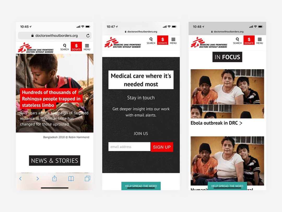 Top Nonprofit Websites -- Doctors without Borders