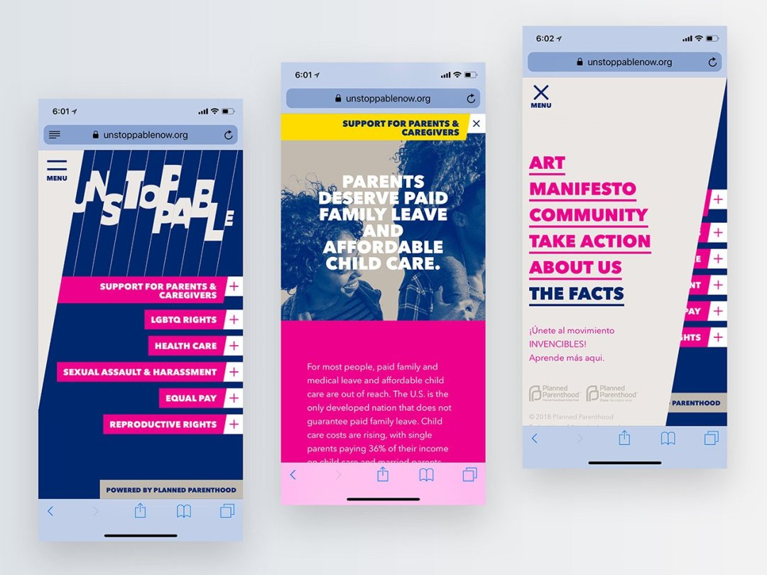 Top Nonprofit Websites -- Unstoppable by Planned Parenthood