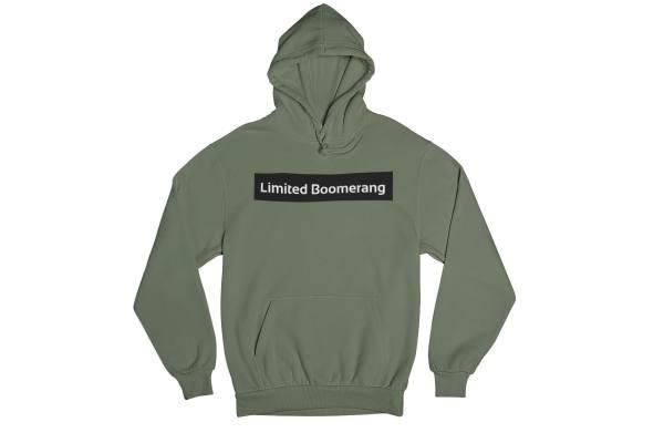 hoodie olijf