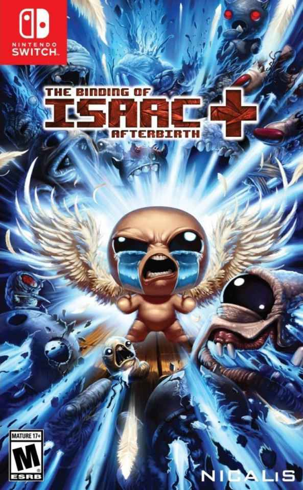 the binding of isaac afterbirth plus nicalis nintendo switch cover