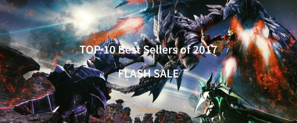 PlayAsia Top 10 Best Sellers of 2017 Flash Sale play-asia.com