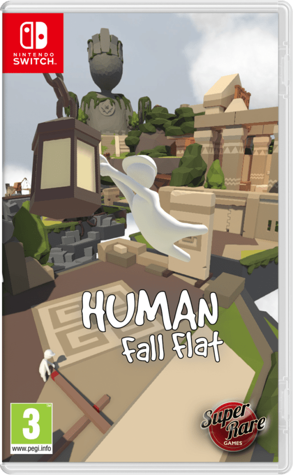 human fall flat superraregames.com nintendo switch cover