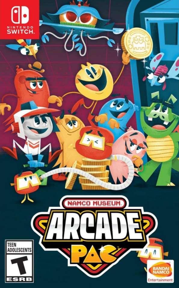 namco museum arcade pac bandai namco nintendo switch cover