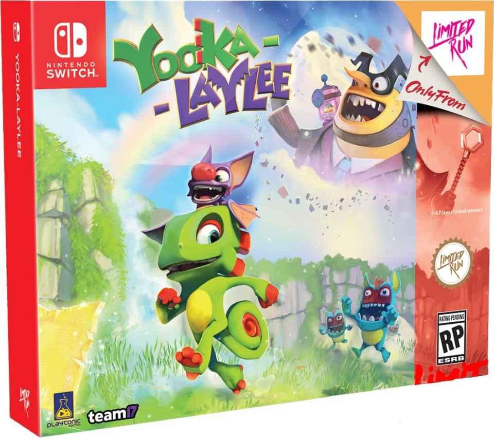 yooka laylee team 17 collectors edition limitedgamenews.com nintendo switch box