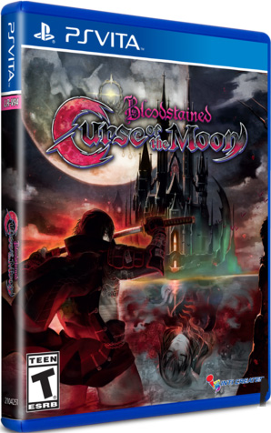 bloodstained curse of the moon retail limited run games ps vita cover limitedgamenews.com