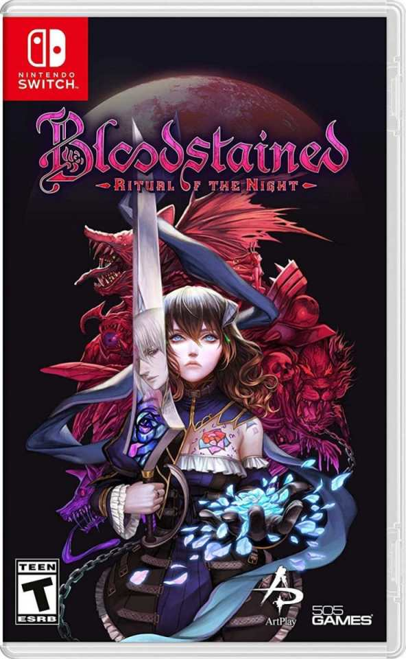 bloodstained ritual of the night nintendo switch cover limitedgamenews.com
