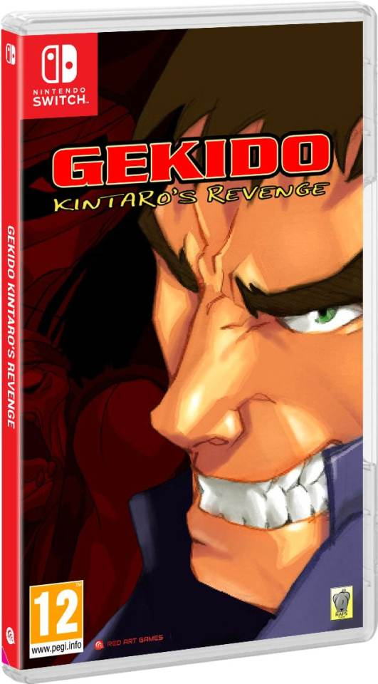 gekido kintaros revenge red art games retail nintendo switch cover limitedgamenews.com