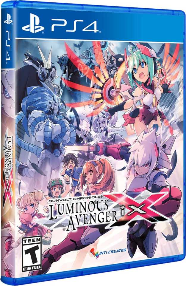gunvolt chronicles luminous avenger ix physical release standard edition limited run games ps4 cover limitedgamenews.com