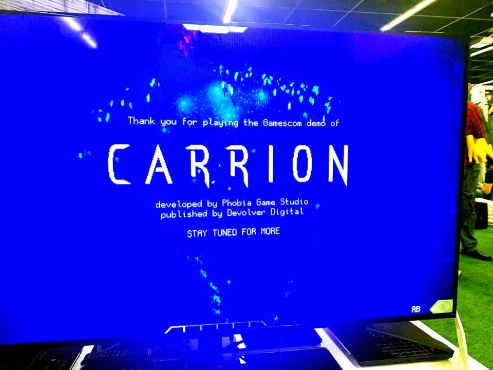 lgn con report gamescom 2019 carrion demo devolver digital 002 limitedgamenews.com