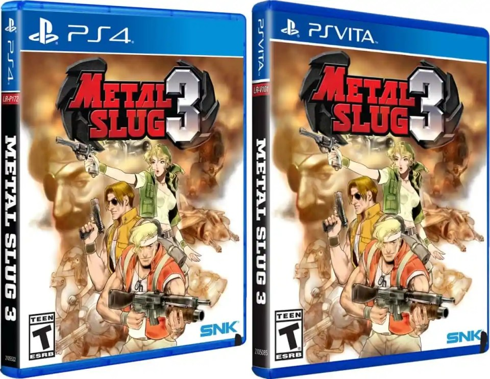 metal slug 3 retail limited run games standard edition ps vita ps4 cover limitedgamenews.com