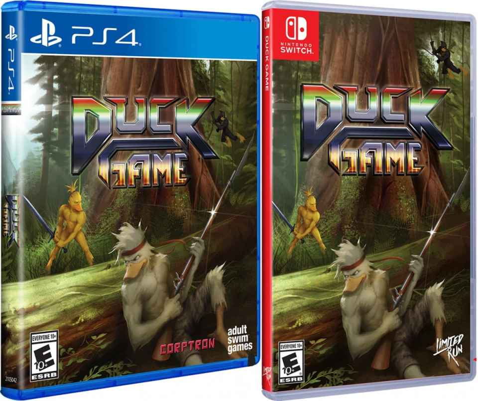 duck game physical release limited run games standard edition ps4 nintendo switch cover limitedgamenews.com