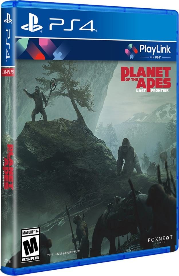 planet of the apes last frontier physical release limited run games playlink ps4 cover limitedgamenews.com