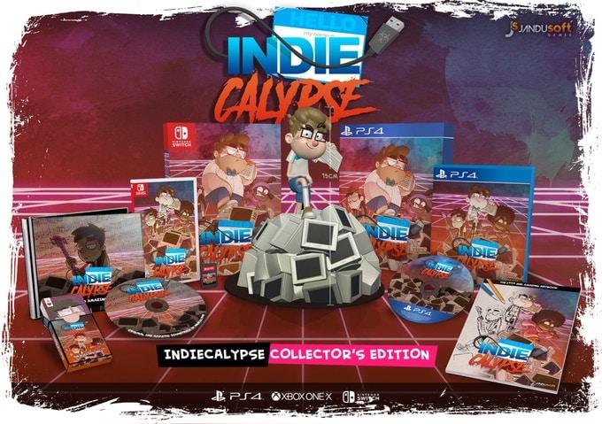 indiecalypse physical release kickstarter jandusoft ps4 nintendo switch cover limitedgamenews.com