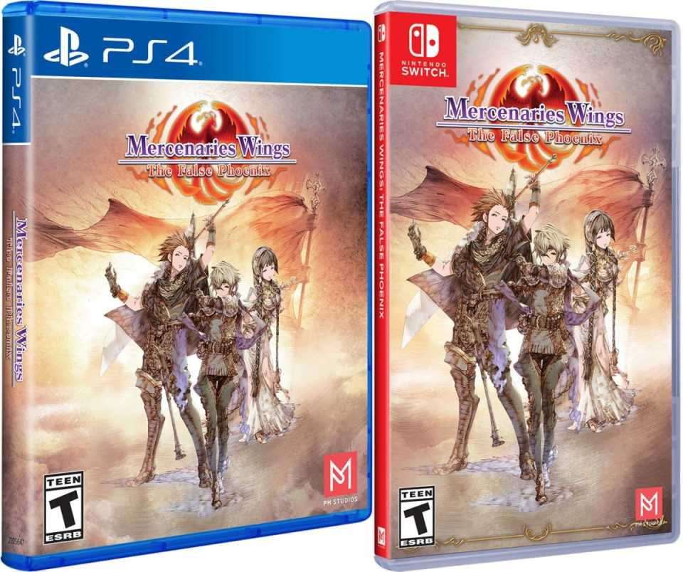 mercenaries wings the false phoenix standard edition physical release limited run games ps4 nintendo switch cover limitedgamenews.com
