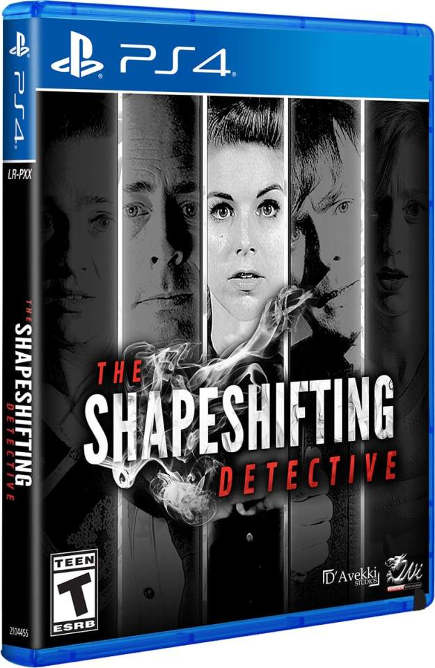 the shapeshifting detective physical release limited run games ps4 cover limitedgamenews.com