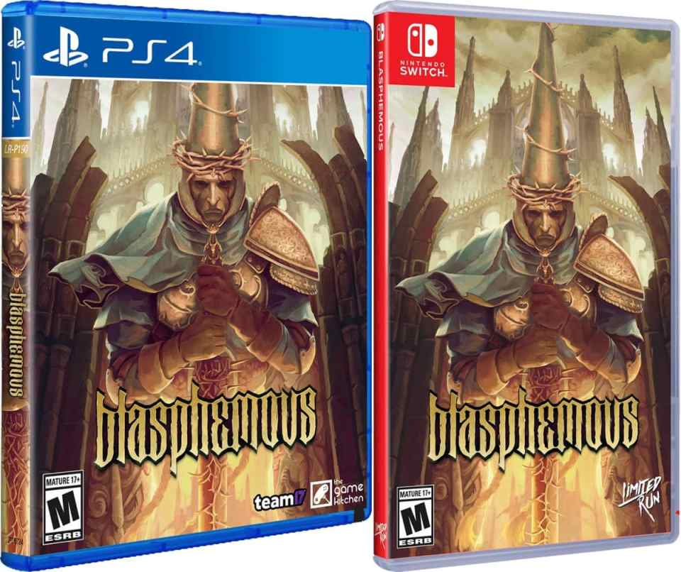 blasphemous physical release limited run games standard edition ps4 nintendo switch cover limitedgamenews.com