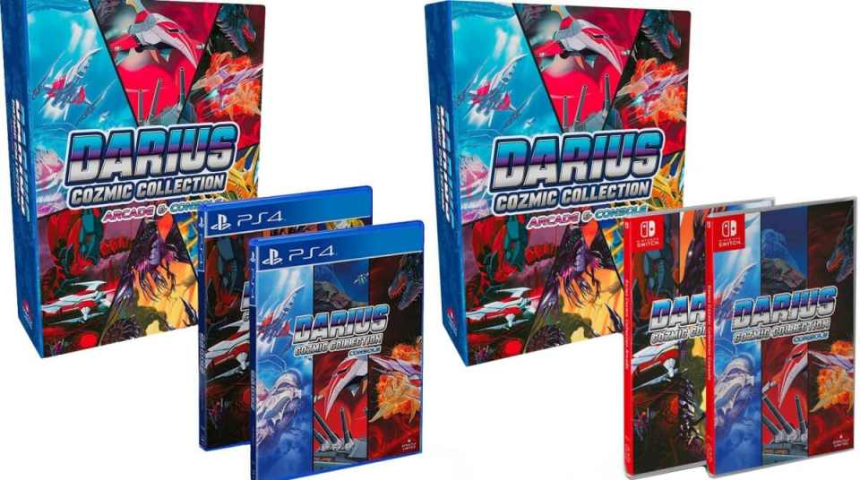 darius cozmic collection arcade console physical release strictly limited games collectors edition ps4 nintendo switch cover limitedgamenews.com