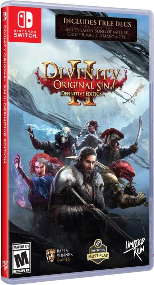 divinity original sin ii definitive edition physical release limited run games nintendo switch cover limitedgamenews.com