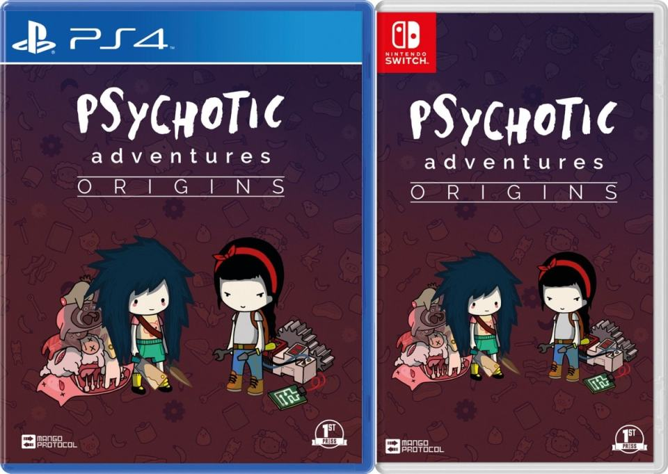 psychotic adventures origins physical release first press games ps4 nintendo switch cover limitedgamenews.com