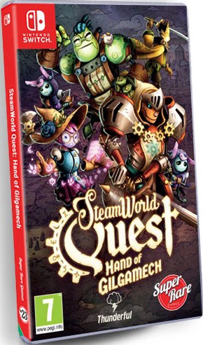 steamworld quest physical release super rare games nintendo switch cover limitedgamenews.com
