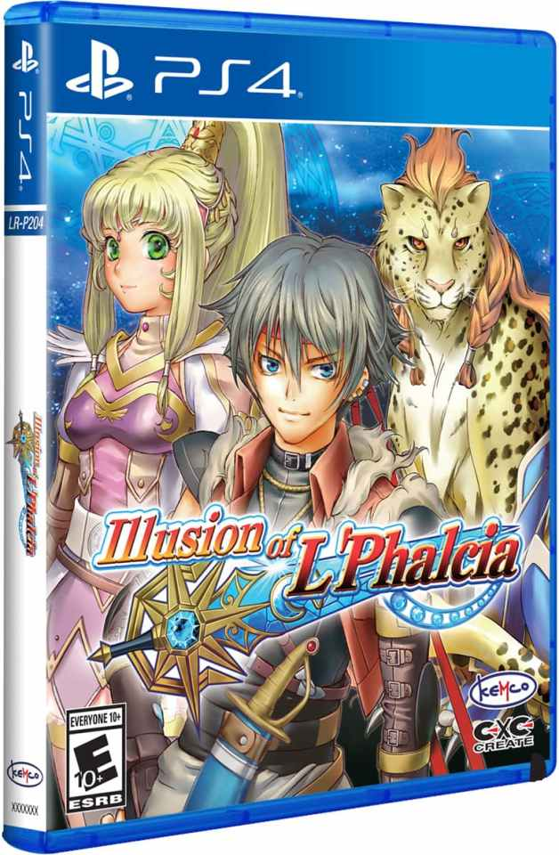 illusion of l phalcia physical release limited run games ps4 cover limitedgamenew.