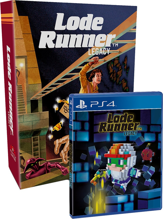 lode runner legacy phyiscal release strictly limited games collectors edition ps4 cover limitedgamenews.com
