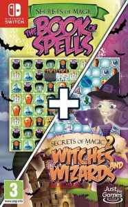 secrets of magic 1 and 2 book of spells witches and wizards retail european release just for games nintendo switch cover limitedgamenews.com