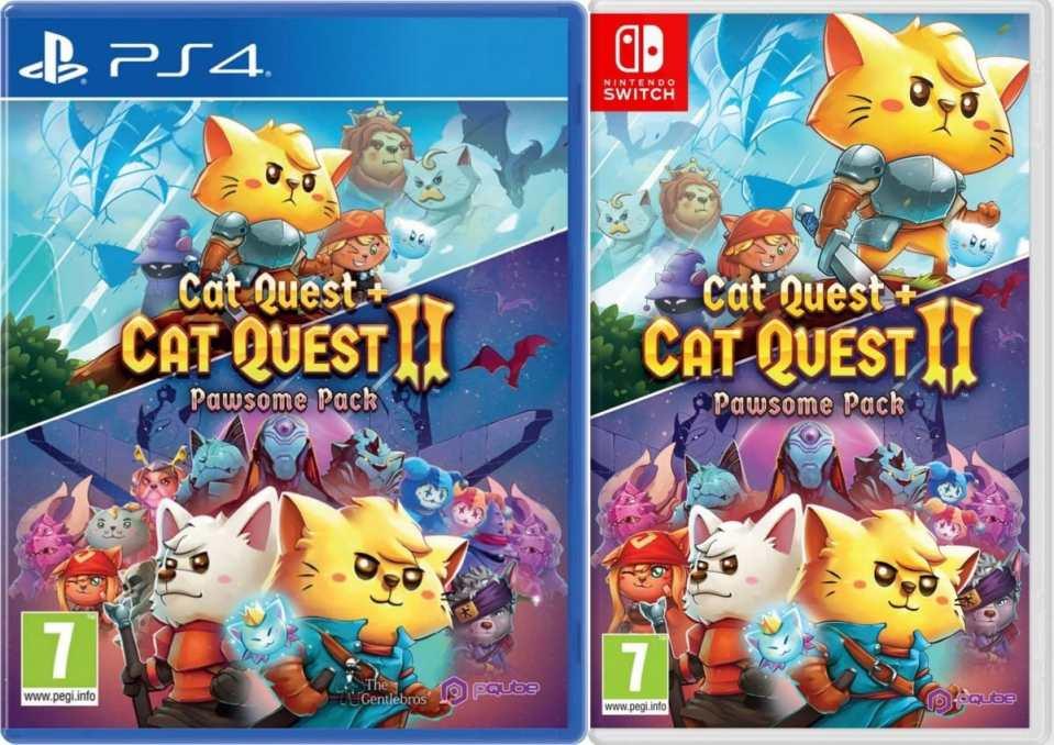 cat quest pawsome pack cat quest 2 retail release pqube ps4 nintendo switch cover limitedgamenews.com