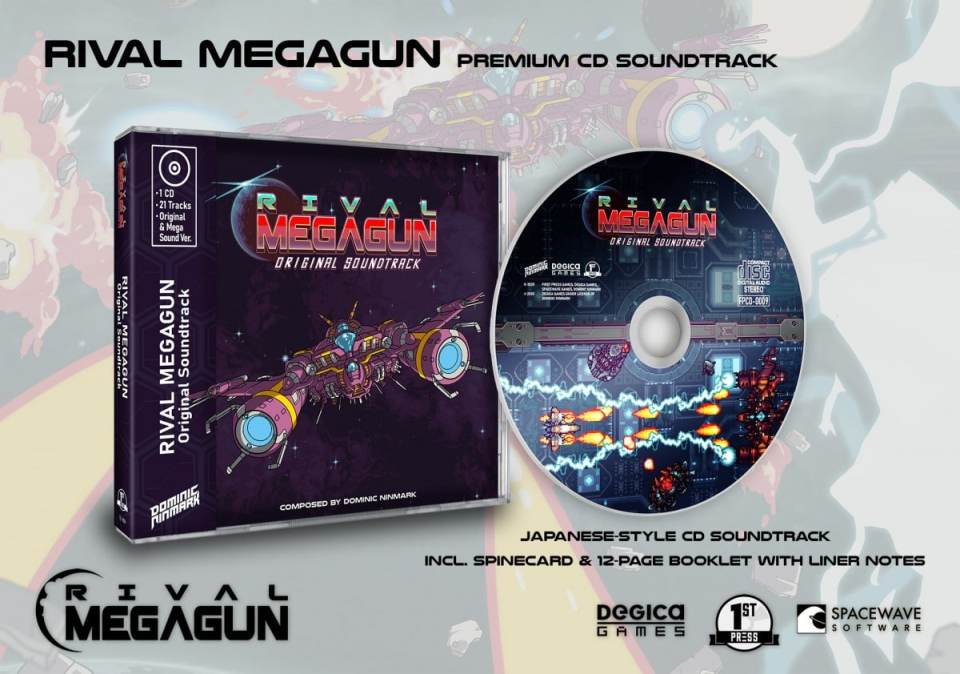 rival megagun physical release first press games premium edition soundtrack cover limitedgamenews.com