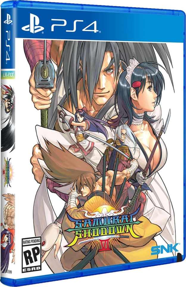 samurai shodown vi physical release limited run games ps4 cover limitedgamenews.com