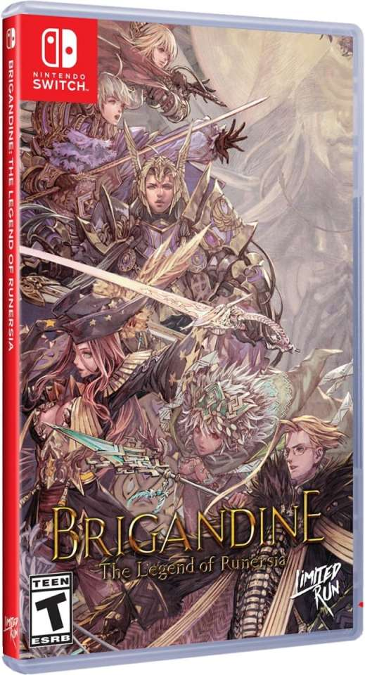 brigandine physical release limited run games standard edition nintendo switch cover limitedgamenews.com