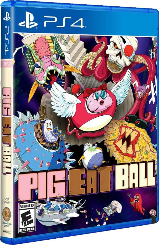 pig eat ball physical release limited run games ps4 cover limitedgamenews.com