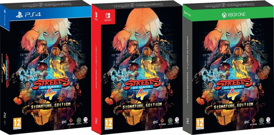streets of rage 4 physical release signature edition games xbox one ps4 nintendo switch cover limitedgamenews.com