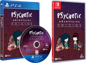 psychotic adventures regular edition physical release first press games ps4 nintendo switch cover limitedgamenews.com