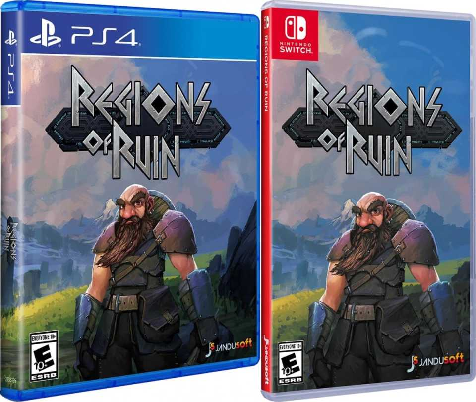 regions of ruin retail release jandusoft ps4 nintendo switch cover www.limitedgamenews.com