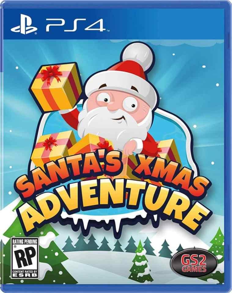 santas xmas adventure retail release playstation 4 cover www.limitedgamenews.com