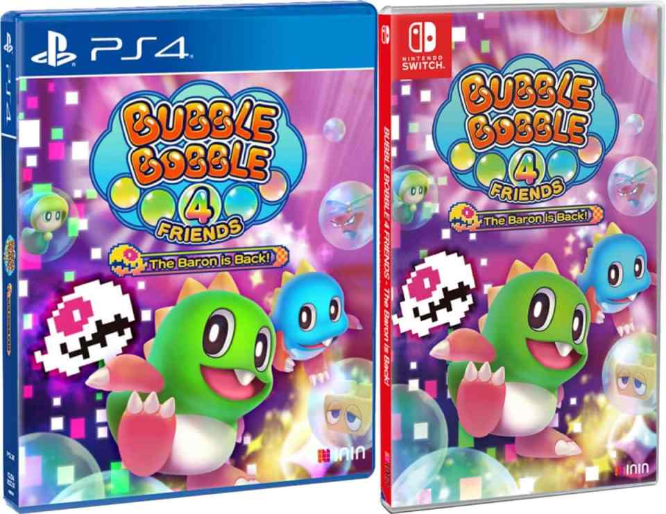 bubble bobble 4 friends the baron is back retail inin games playstation 4 nintendo switch cover www.limitedgamenews.com