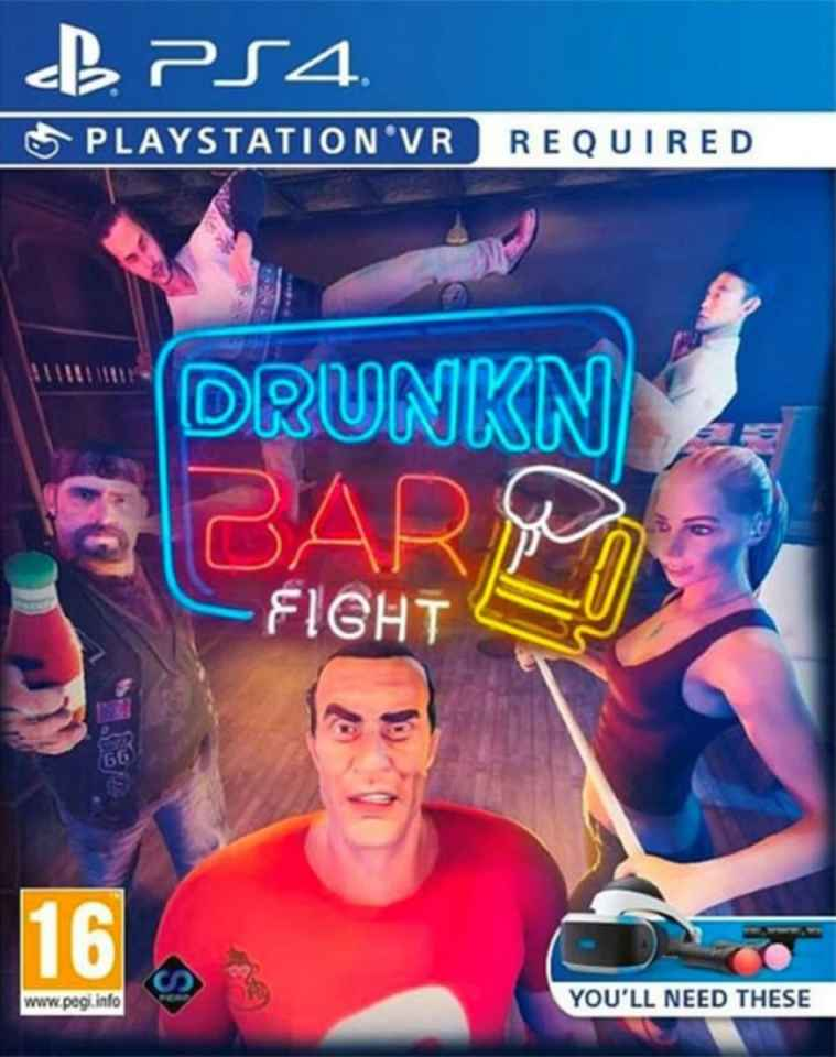 drunkn bar fight retail perp games playstation 4 playstation vr cover www.limitedgamenews.com