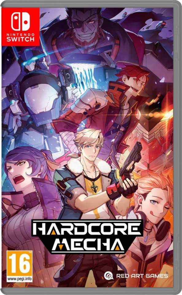 hardcore mecha retail limited run games nintendo switchcover www.limitedgamenews.com