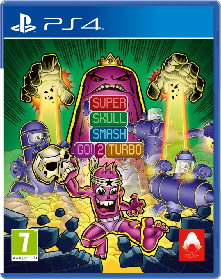 super skull smash go! 2 turbo retail red art games playstation 4 cover www.limitedgamenews.com