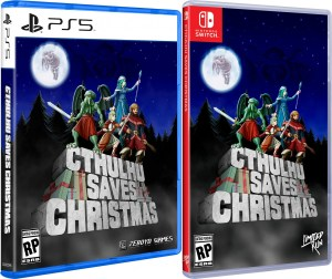 cthuluhu saves christmas physical retail release limited run games playstation 5 nintendo switch cover www.limitedgamenews.com